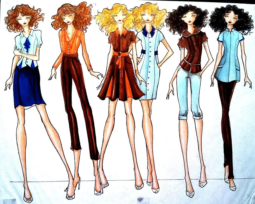 Fashion Sketch Illustration   Male Models Picture